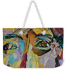 Native American Reflection Weekender Tote Bag by Michael Cinnamond