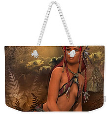 Native American Woman... Abedabun Weekender Tote Bag