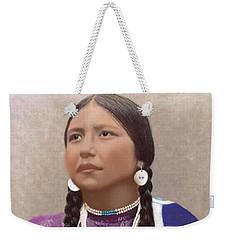 Native American Woman Weekender Tote Bag