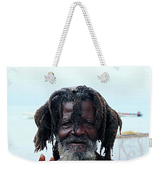 Weekender Tote Bag featuring the photograph Native Man by Gary Wonning