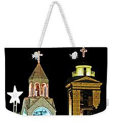Nativity Church Lights Weekender Tote Bag