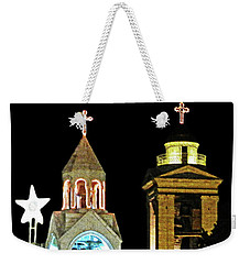 Nativity Church Lights Weekender Tote Bag