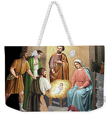 Nativity Scene Painting At Nativity Church Weekender Tote Bag