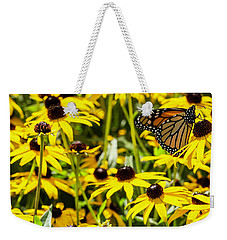 Monarch Butterfly On Yellow Flowers Weekender Tote Bag