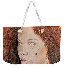 Natural Beauty With Red Hair  Weekender Tote Bag by Jim Fitzpatrick