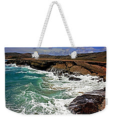 Weekender Tote Bag featuring the photograph Natural Bridge Aruba by Suzanne Stout