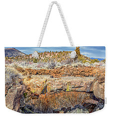 Natural Bridge At Lava Beds Weekender Tote Bag