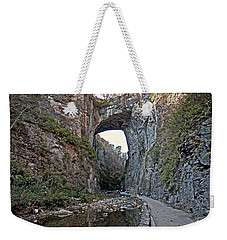Weekender Tote Bag featuring the photograph Natural Bridge Virginia by Suzanne Stout