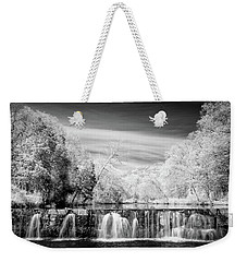 Weekender Tote Bag featuring the photograph Natural Dam Film Noir by James Barber