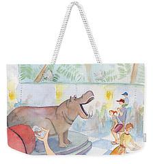 Natural History Hippo Weekender Tote Bag