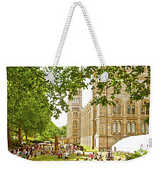 Weekender Tote Bag featuring the photograph Natural History Museum Summertime by Anne Kotan