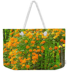 Natural Wild Azaleas  Weekender Tote Bag by Rand Herron