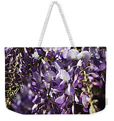 Natural Wisteria Bouquet Weekender Tote Bag