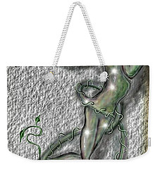 Weekender Tote Bag featuring the digital art Nature And Man by Darren Cannell
