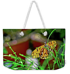 Nature - Butterfly And Plants Weekender Tote Bag