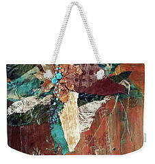 Weekender Tote Bag featuring the drawing Nature's Display by Phyllis Howard