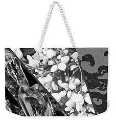 Nature Collage In Black And White Weekender Tote Bag