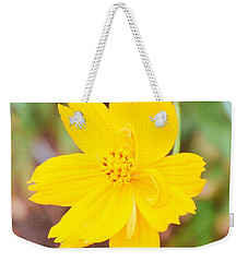 Weekender Tote Bag featuring the photograph Nature Colorful Flower Gifts - Yellow by Ray Shrewsberry