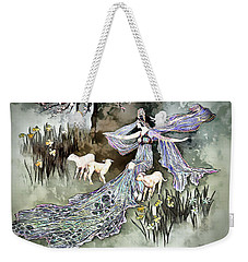 Weekender Tote Bag featuring the digital art Nature Goddess by Pennie McCracken