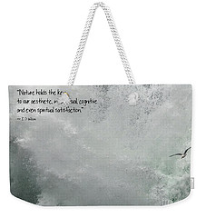 Weekender Tote Bag featuring the photograph Nature Holds The Key by Peggy Hughes