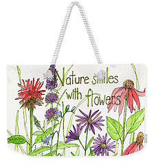 Nature Smile With Flowers Weekender Tote Bag