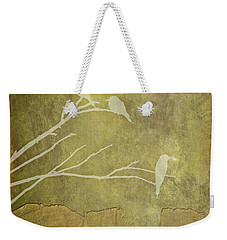 Nature Study In Gold  Weekender Tote Bag