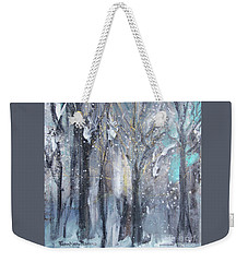 Weekender Tote Bag featuring the painting Nature's Cathedral by Robin Maria Pedrero