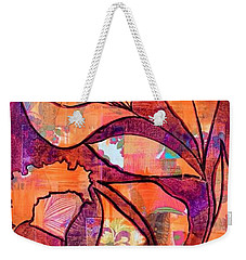 Weekender Tote Bag featuring the mixed media Nature's Dance by Julie Hoyle