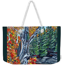 Weekender Tote Bag featuring the painting Natures Faces by Marilyn  McNish