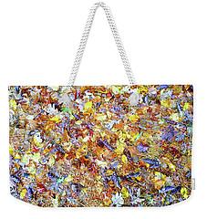 Natures Fall Falling Patterns Weekender Tote Bag