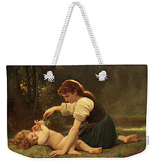 Natures Fan Weekender Tote Bag by Troy CapertonWilliam Adolphe Bouguereau