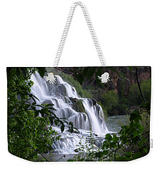Nature's Framed Waterfall Weekender Tote Bag