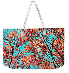 Weekender Tote Bag featuring the photograph Natures Magic - Orange by Rebecca Harman