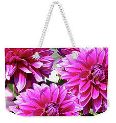Natures Perfume Dahlias Red Tones Weekender Tote Bag