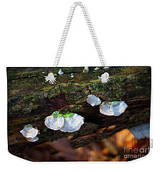 Weekender Tote Bag featuring the photograph Natures Ruffles - Cascade Wi by Mary Machare