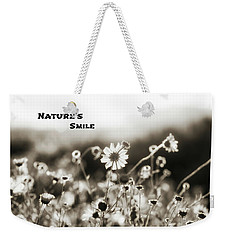 Nature's  Smile Monochrome Weekender Tote Bag