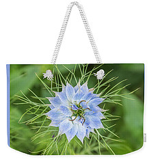 Weekender Tote Bag featuring the photograph Natures Star by Wendy Wilton