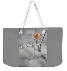 Weekender Tote Bag featuring the photograph Nature's Valentine by Diane Alexander