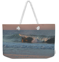 Weekender Tote Bag featuring the photograph Natures Wave by  Newwwman