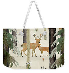 Weekender Tote Bag featuring the painting Natures Way The Deer by Bri B