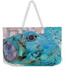 Weekender Tote Bag featuring the photograph Nautical Beach And Fish #1 by Debra and Dave Vanderlaan