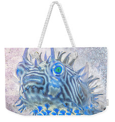 Weekender Tote Bag featuring the photograph Nautical Beach And Fish #12 by Debra and Dave Vanderlaan
