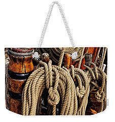 Nautical Knots 17 Oil Weekender Tote Bag