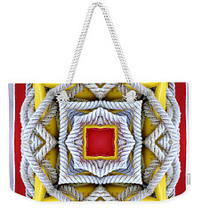 Nautical Knots Kaleidoscope Weekender Tote Bag by Francesa Miller