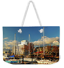Nautical Norfolk  Weekender Tote Bag by James Kirkikis