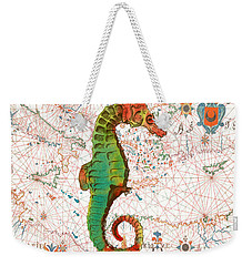 Weekender Tote Bag featuring the painting Nautical Treasures-h by Jean Plout