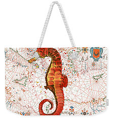 Weekender Tote Bag featuring the painting Nautical Treasures-i by Jean Plout