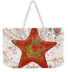Weekender Tote Bag featuring the painting Nautical Treasures-k by Jean Plout