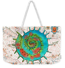 Weekender Tote Bag featuring the painting Nautical Treasures-m by Jean Plout