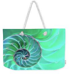 Nautilus Aqua Spiral Weekender Tote Bag